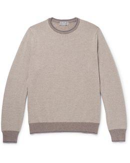 Contrast-trimmed Merino Wool Sweater