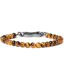 Oxidised Silver Tiger's Eye Bracelet