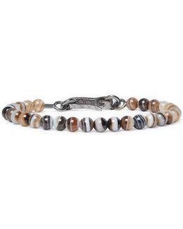 Agate Oxidised Silver Bracelet