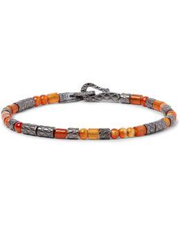 Oxidised Sterling Silver Carnelian Bracelet