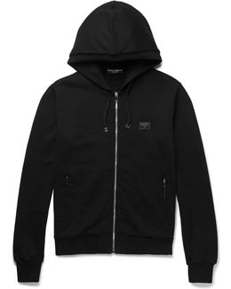 Cotton-jersey Zip-up Hoodie