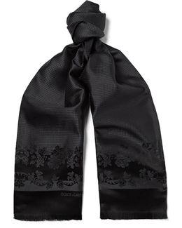 Floral Silk-jacquard Scarf