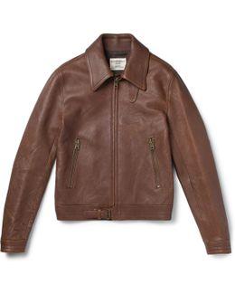 Kapore Full-grain Leather Bomber Jacket