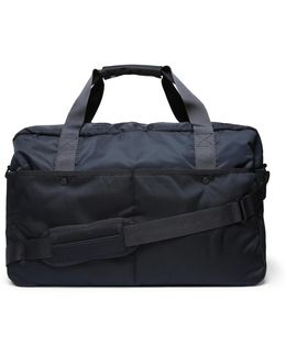 Canvas-trimmed Shell Holdall