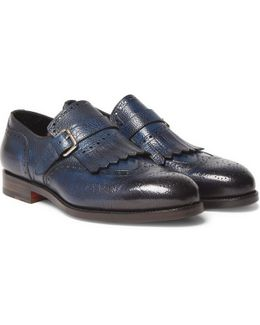 Burnished Full-grain Leather Loafers