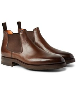Burnished-leather Chelsea Boots