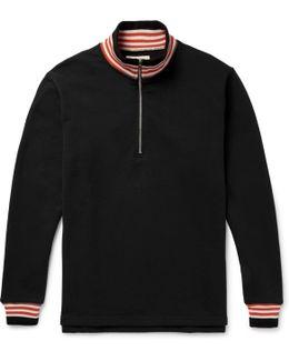 Court Loopback Cotton-jersey Half-zip Sweatshirt