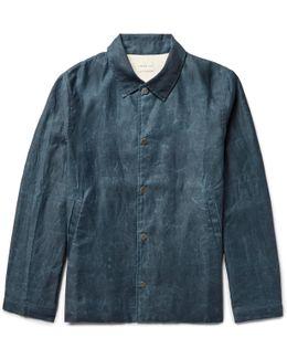 Distressed Cotton Coach Jacket