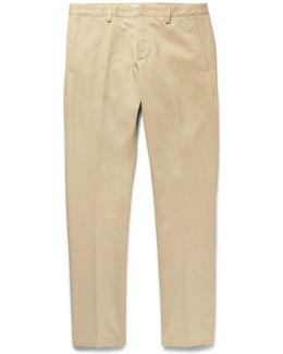 Slim-fit Tapered Cotton-drill Chinos