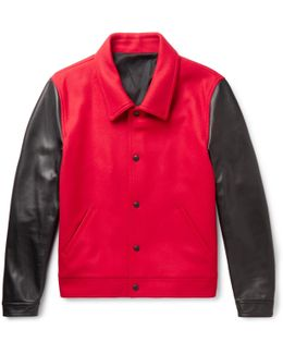 Virgin Wool-blend And Leather Jacket