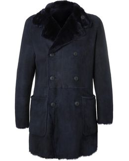 Slim-fit Reversible Double-breasted Shearling Coat