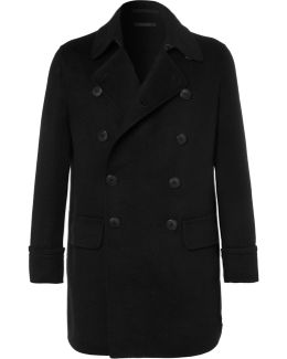 Cashmere-blend Double-breasted Coat