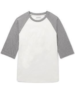 Two-tone Cotton-jersey T-shirt