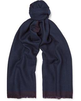 Two-tone Wool Scarf
