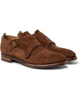 Princeton Suede Monk-strap Shoes