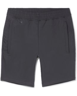 Lab Shell-panelled Stretch-cotton Shorts