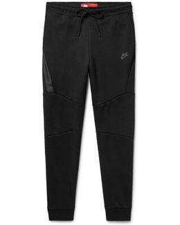 Slim-fit Tapered Cotton-blend Tech Fleece Sweatpants