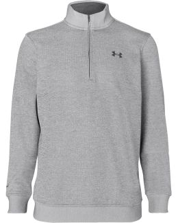 Storm Fleece-back Stretch-jersey Half-zip Golf Sweatshirt