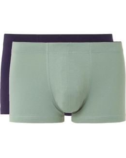 Two-pack Stretch-cotton Jersey Boxer Briefs