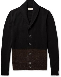 Cairn Shawl-collar Colour-block Merino Wool And Cashmere-blend Cardigan
