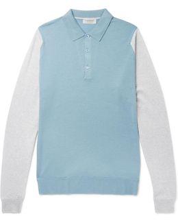 Hindlow Two-tone Merino Wool Sweater
