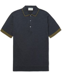 Nailsea Contrast-tipped Merino Wool Polo Shirt