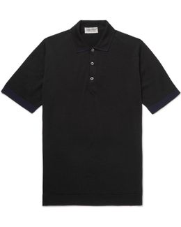 Nailsea Contrast-tipped Virgin Merino Wool Polo Shirt