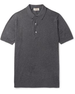 Haddon Cotton And Cashmere-blend Polo Shirt