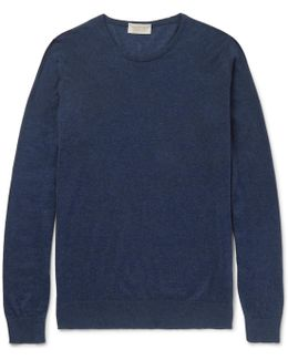 Theon Sea Island Cotton And Cashmere-blend Sweater