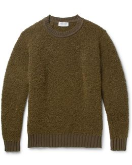 Moss Alpaca-blend Bouclé Sweater