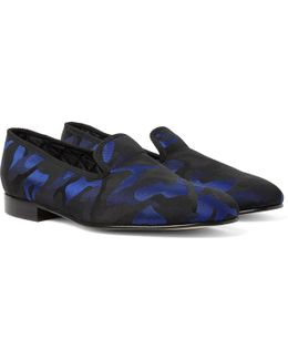 Camouflage Jacquard Slippers