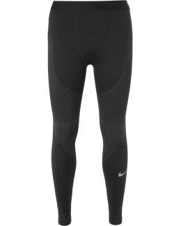 Zonal Strength Stretch-jersey Running Tights