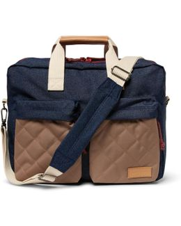 Tomec Leather-trimmed Canvas Holdall