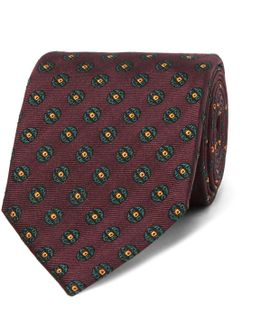 8cm Medallion-patterned Mulberry Silk-jacquard Tie