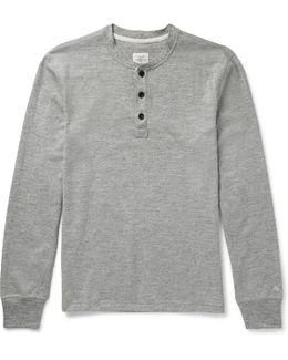 Mélange Cotton-blend Jersey Henley T-shirt