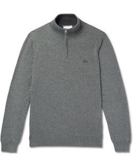 Cotton-jersey Half-zip Sweatshirt