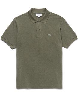 Mélange Cotton-piqué Polo Shirt