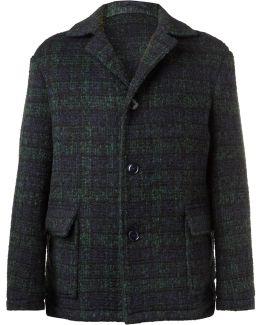 Checked Virgin Wool-blend Coat