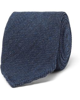 8cm Woven Wool And Silk-blend Tie