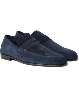 Edward Collapsible-heel Suede Loafers