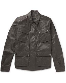 Levison Waxed Cotton-blend Field Jacket