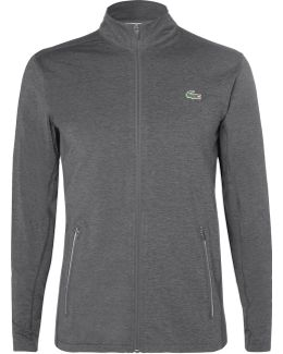 Novak Djokovic Mélange Jersey Zip-up Jacket