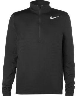 Aeroreact Slim-fit Stretch-knit Half-zip Golf Top