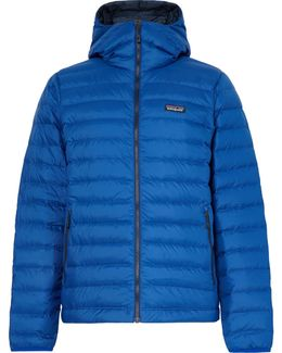Quilted Dwr-coated Ripstop Shell Hooded Down Jacket