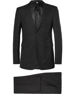 Black Slim-fit Wool Suit