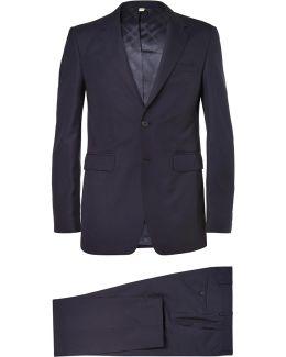 Navy Slim-fit Wool Suit