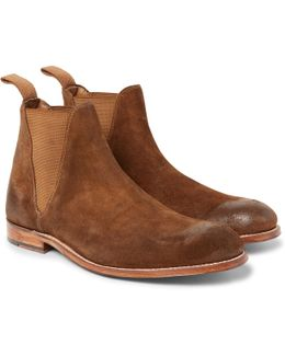 Nolan Burnished-suede Chelsea Boots