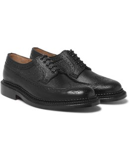 Sid Triple-welted Pebble-grain Leather Brogues