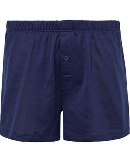 Sporty Mercerised Cotton Boxer Shorts