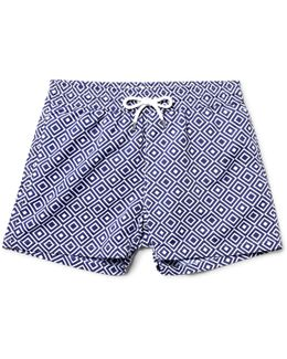Angra Slim-fit Short-length Printed Swim Shorts